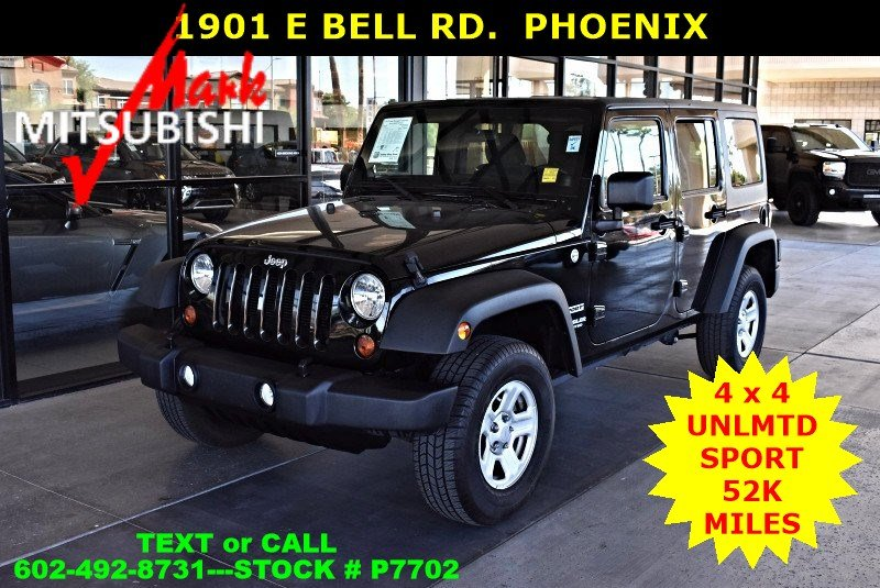 Pre Owned 2012 Jeep Wrangler Unlimited Sport HARD TOP 4X4