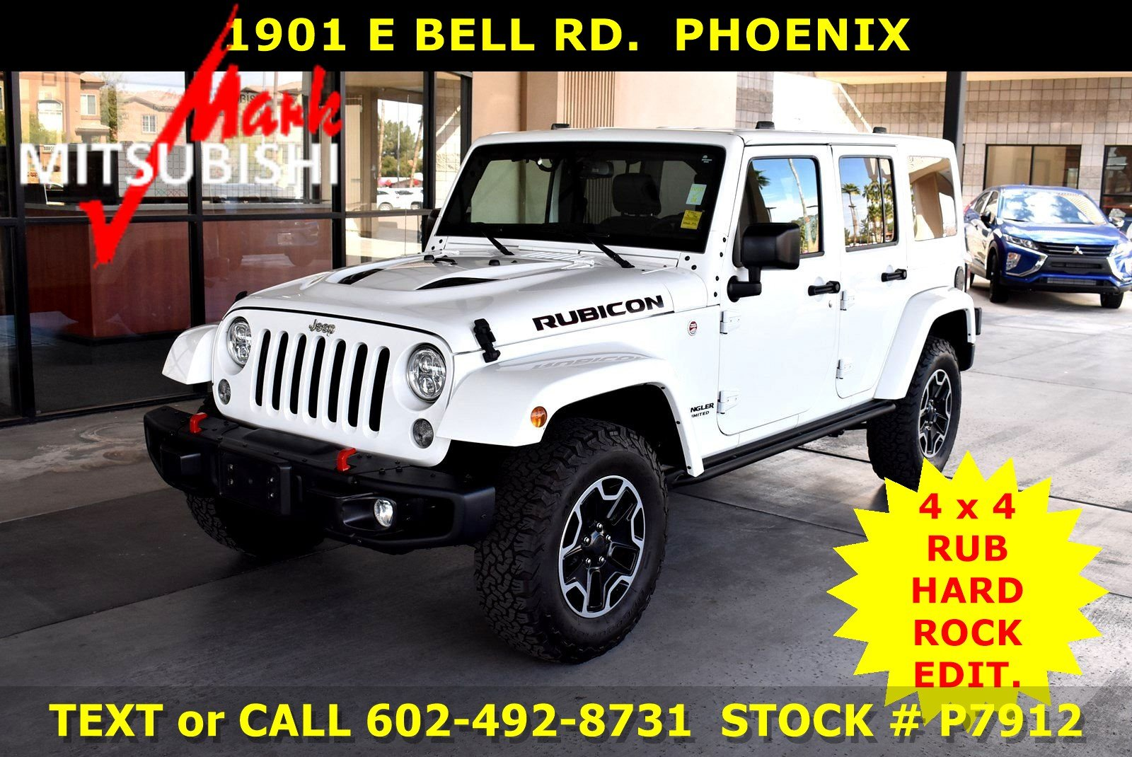 Pre Owned 2016 Jeep Wrangler Unlimited Rubicon Hard Rock 4x4