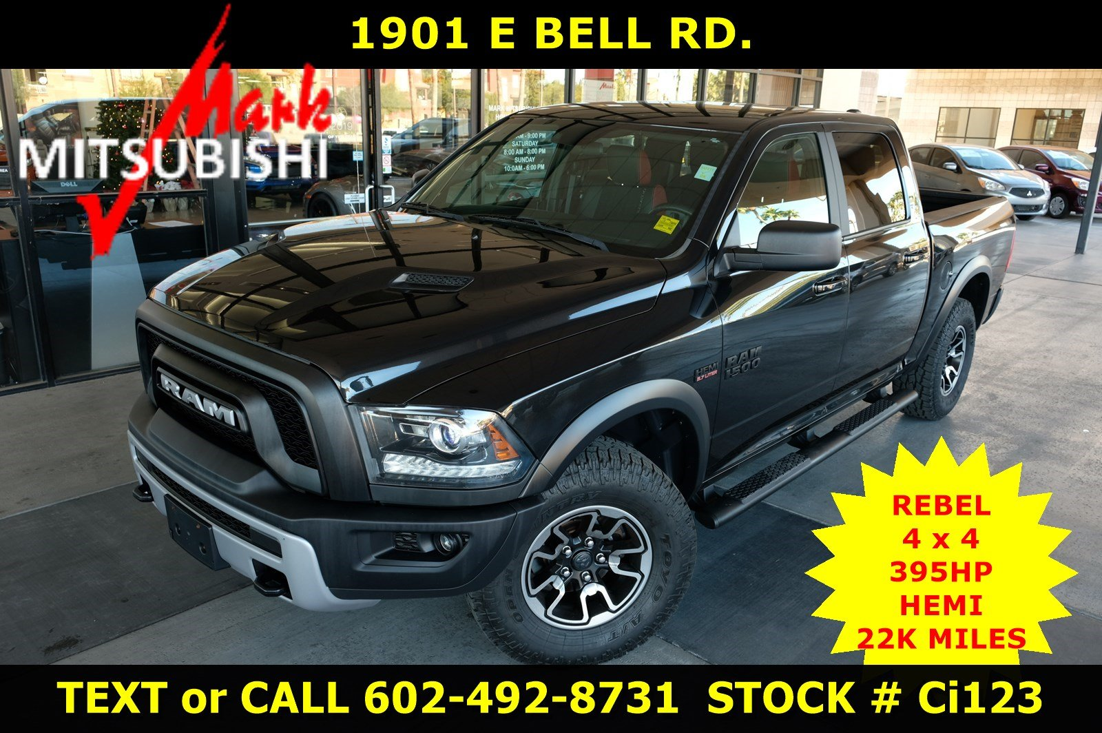 Pre-Owned 2017 Ram 1500 Rebel 4X4