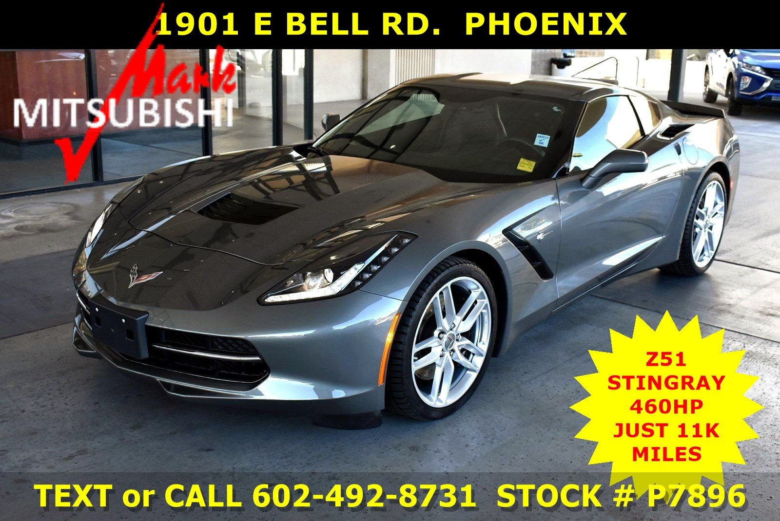 Pre-Owned 2016 Chevrolet Corvette Z51 STINGRAY