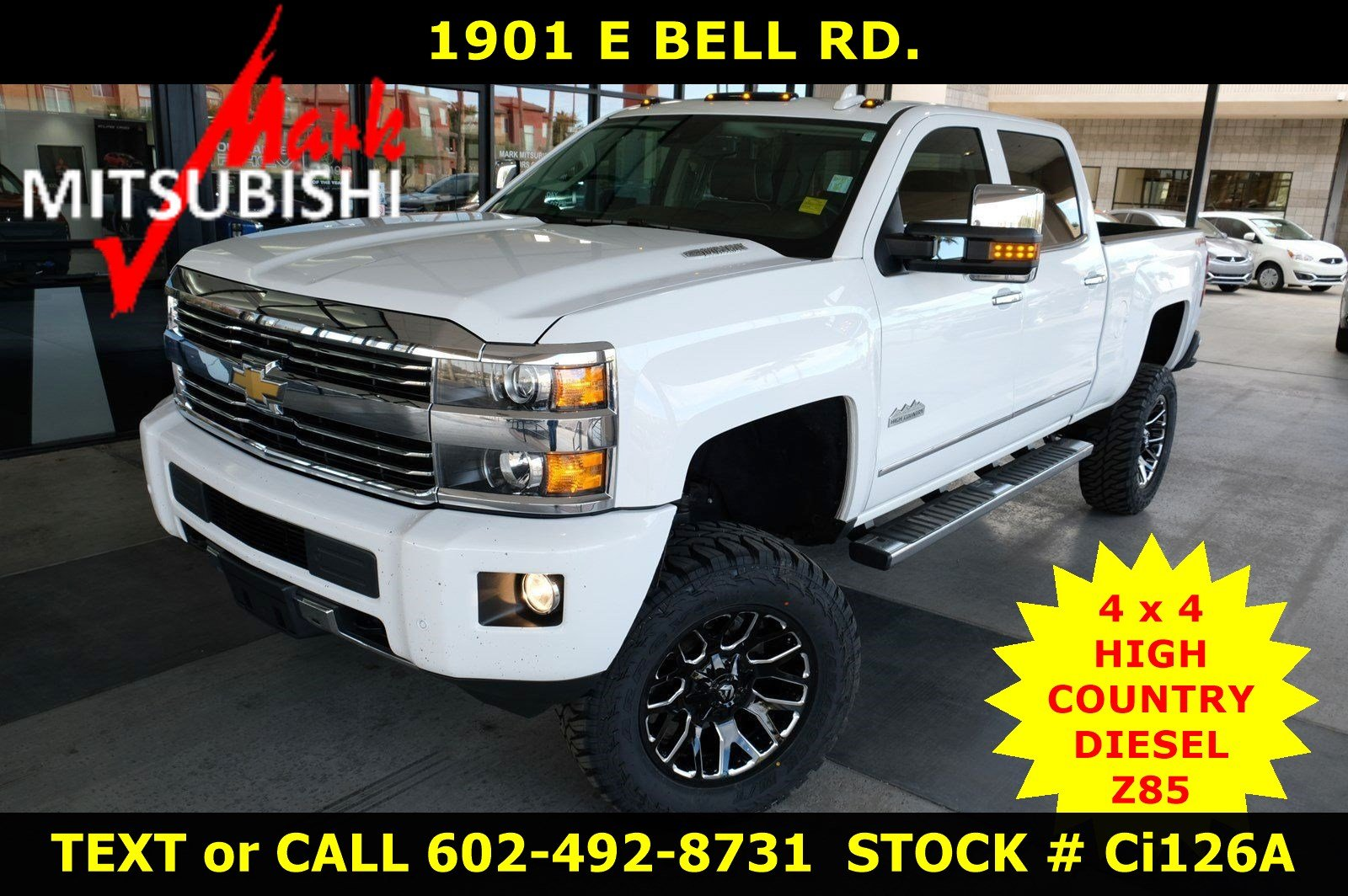 Pre-Owned 2015 Chevrolet Silverado 3500HD 4X4 Built After Aug 14 High Country