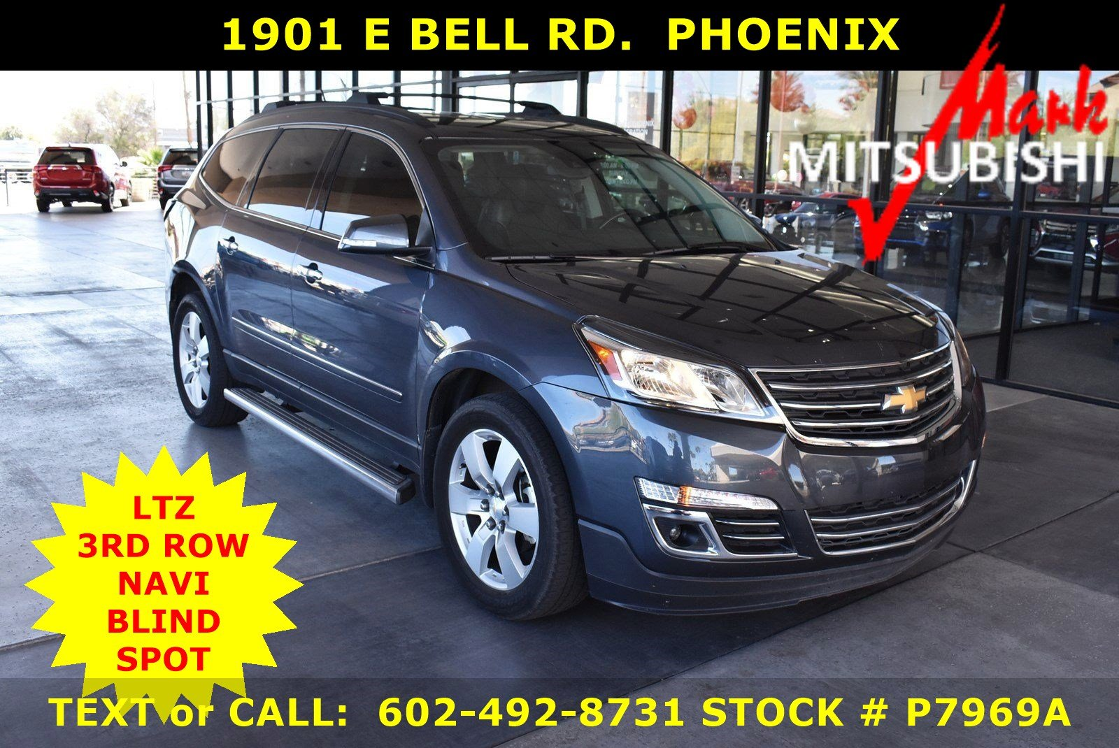 Pre-Owned 2014 Chevrolet Traverse LTZ 3 ROW