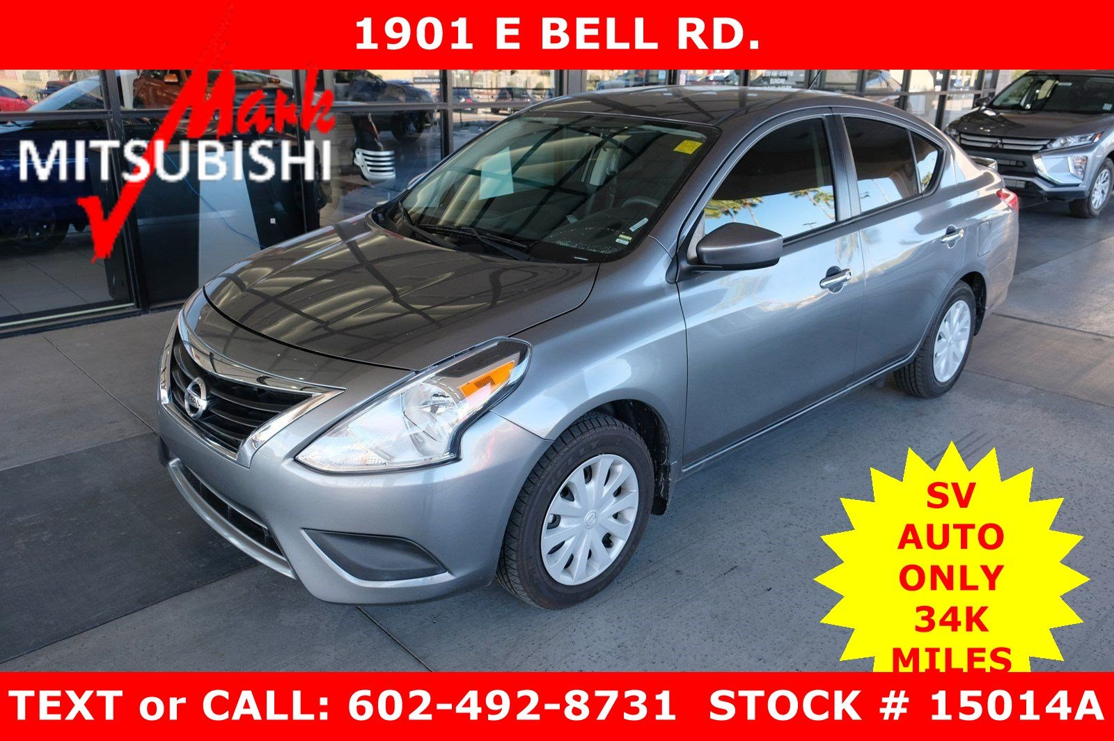 Pre-Owned 2017 Nissan Versa Sedan SV