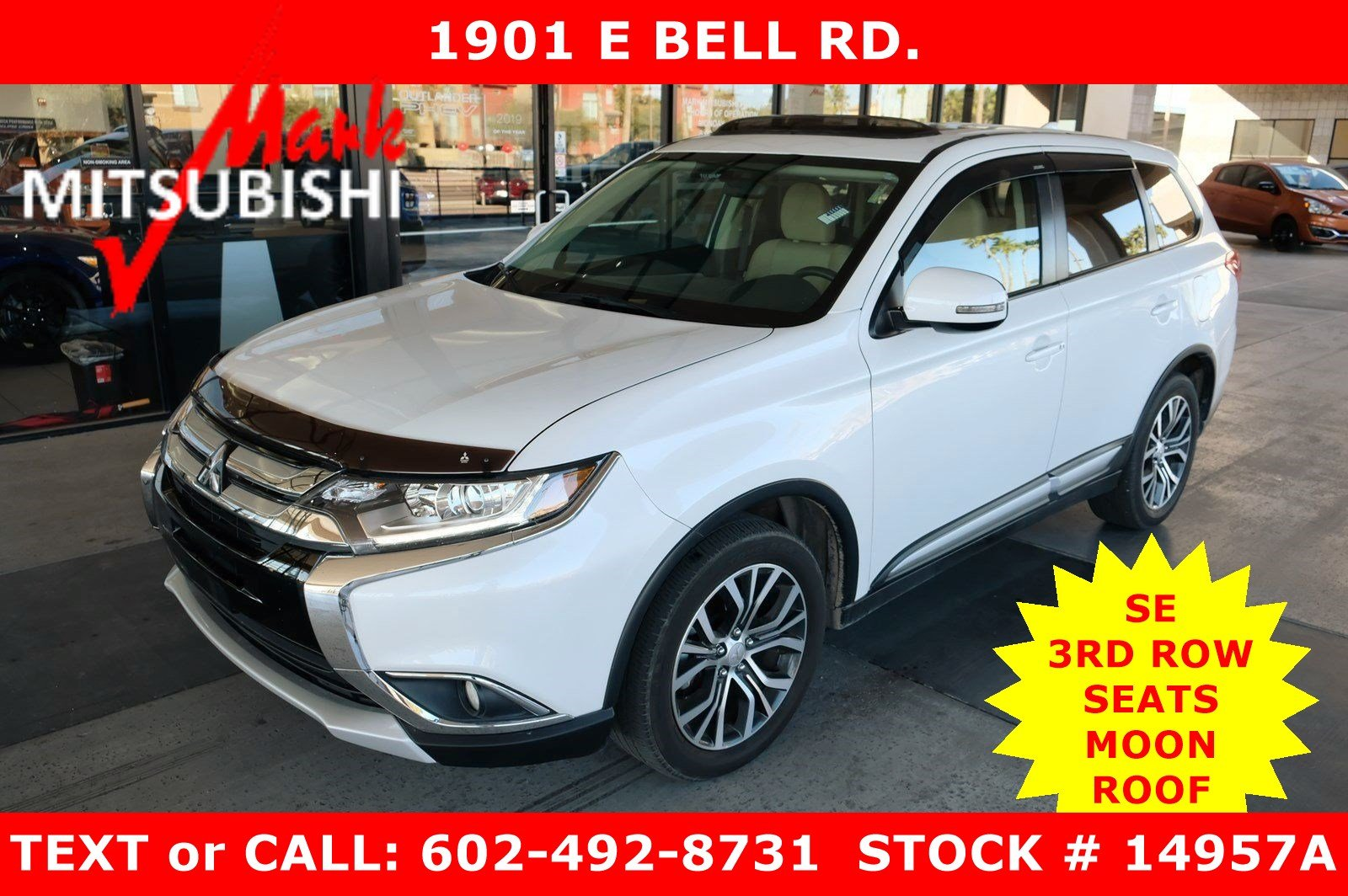 Pre-Owned 2018 Mitsubishi Outlander SE 3ROW